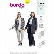 6393 Burda Pattern: Misses' Plus Size Jacket